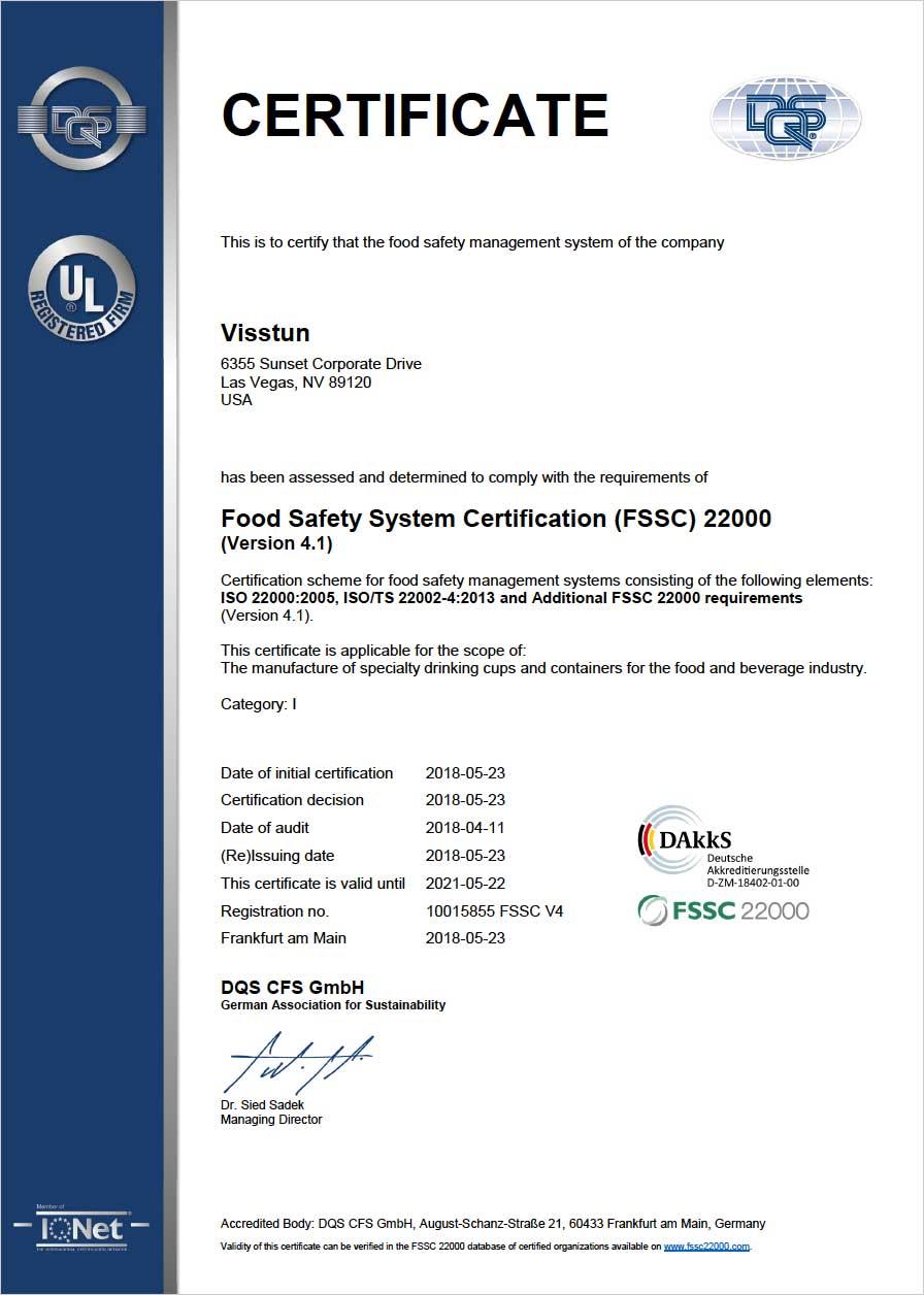 FSSC 22000 Certificate